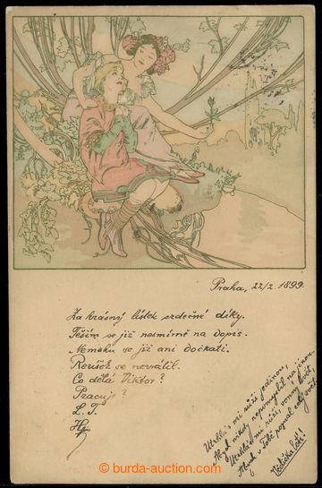 226363 - 1899 MUCHA Alfons, Champenois, Etapy života, Dospívání,