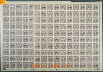 226383 - 1934 ARCHOVINA / Pof.OT1, 10h fialová, 2x kompletní 100ks