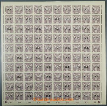 226384 - 1934 ARCHOVINA / Pof.OT1, 10h fialová, kompletní 100ks PA