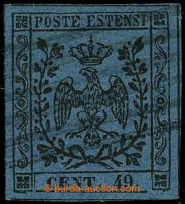 226402 - 1852 Sass.10a, Znak 40C modrá, chybotisk CENT.49 namísto C