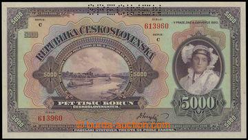 226446 - 1920 Ba.17c, 5000Kč 1920, SPECIMEN