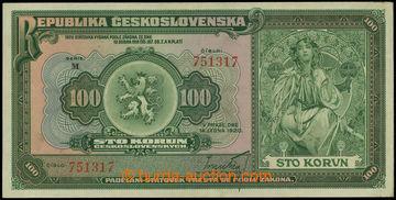 226447 - 1920 Ba.16a, 100Kč 1920, série M; lehce přeloženo, celko