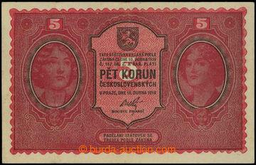 226448 - 1919 Ba.8, 5Kč 1919, série 0083; křížem přeloženo