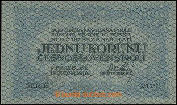226449 - 1919 Ba.7a, 1Kč 1919, série 212
