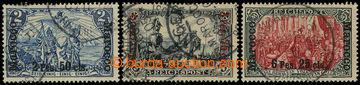 226464 - 1900 Mi.17II, 18II, 19IV REICHSPOST 2M-5M, ve vzácných II.