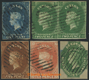 226472 - 1857 SG.2, 3, 5, 9, 11; Viktorie 1P, 2-páska 2P, 5P, 10P, 1