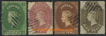 226474 - 1861 SG.22, 29, 30, 33b; Viktorie 2P, 4P, 5P, 9P. průsvitka
