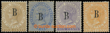 226504 - 1882 BRITSKÁ POŠTA - BANGKOK / SG.17-20, Straits Settlemen