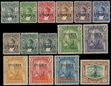 226516 - 1913 SG.246-260, Sultán Harub a džunky (Dhow) 1C-10Rp; bez