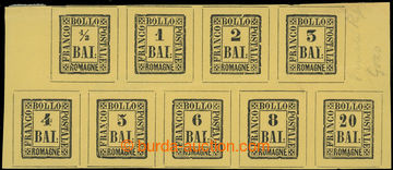226518 - 1860 REPRINT / Sass.1-9, 1/2Bai-20Bai na tiskovém listu zn�