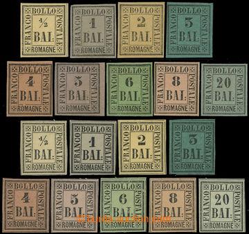 226519 - 1859 Sass.1-9, 1/2Bai-20Bai, kompletní série originálů s