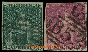 226532 - 1858 SG.27, 29, Britannia 4P zelená a 9P magenta (Perkins &