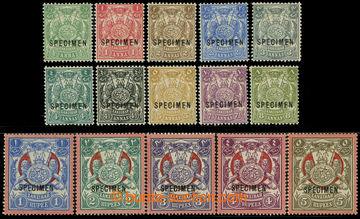 226555 - 1904 SG.210-224, Znak 1/2A-5Rs; bezvadná a kompletní séri