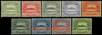 226582 - 1908 SG.8-17, Domorodá veslice 1/2P-5Sh; řada 9 hodnot vč
