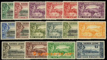 226592 - 1938 SG.188-200, George VI. - Motives 1/2P-1£; very fine on