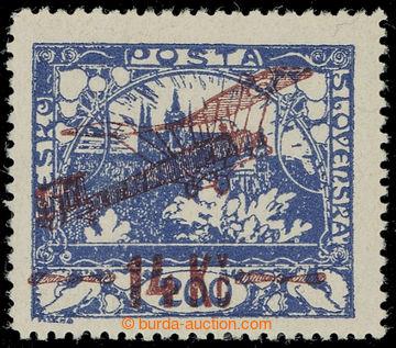 226661 -  Pof.L1A, I. provisional air mail stmp. 14Kč/200h blue, per