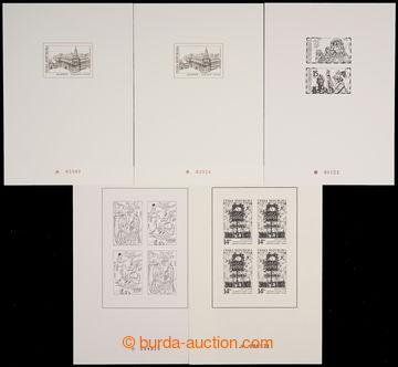 226797 - 1994-2002 PTR1, 2, 6, 9(2x), sestava 5ks PTR, obshuje mj. Hl