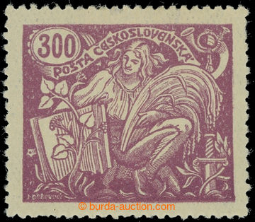 226840 -  Pof.175B II, 300h fialová, II. typ, HZ 13¾ : 13½; stopa