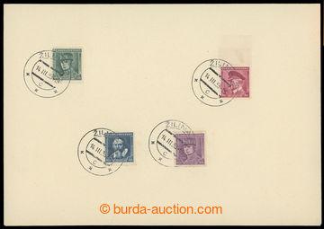 226866 - 1939 1. den Slovenského štátu / nálepní list se 4ks čs