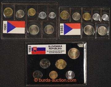 226991 - 1981-1993 SADA OBĚŽNÝCH MINCÍ / 1981, 1983, 1986, 1988,