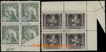 227080 -  Pof.27 VV, 31 VV, 15h zelená a 100h hnědá, krajové 4-bl
