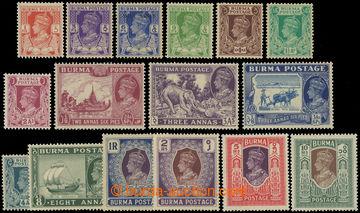 227140 - 1938-1940 SG.18b-33, Jiří VI. Motivy 1P - 10R, hodnota 5R