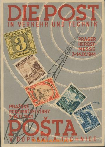 227190 - 1941 POST V DOPRAVĚ A TECHNICE - Prague podzimní fairs 7.