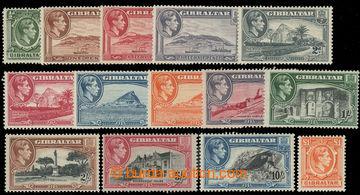 227198 -  SG.121-131, Jiří VI. Motivy ½P - £1; kompletní základ