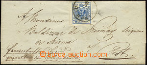 22723 - 1850 folded letter with issue I 9 Kreuzer, HP type III, with