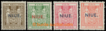 227271 - 1941-1943 SG.79-82, Coat of arms 2Sh6P - £1 with overprint
