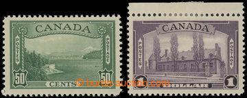 227375 - 1937-1938 SG.366-367, Motivy 50C a $1; koncové hodnoty, kat