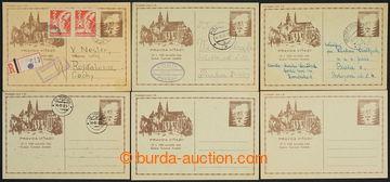 227382 - 1945 CDV73Pa + CDV73, sestava 6ks košických dopisnic, 1x C