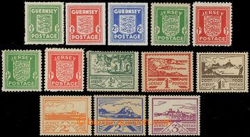 227387 - 1941-1944 GUERNSEY / SG.1-3 + JERSEY /  SG.1-2 (2x); kat. mi