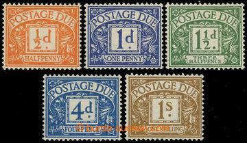 227410 - 1951 SG.D35-D39, Doplatní ½P - 1Sh; kompletní série, kat