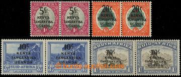 227430 - 1941-1942 SG.151-154, přetiskové páry 5c/1P - 70c/1Sh; ko