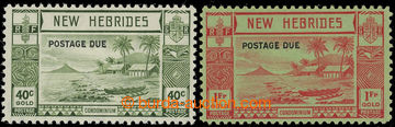 227442 - 1938 SG.D9-D10, doplatní 40c a 1Fr s přetiskem POSTAGE DUE