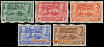 227465 - 1939 SG.257-261, George VI. ½P - 3P; complete set