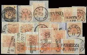 22747 - 1850 - 56 Lombardsko - Benátsko  sestava 18ks výstřižků
