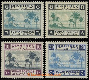 227472 - 1941 SG.92-95, Palmy 6P - 20P; koncové hodnoty z hledané s