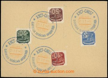 227507 - 1939 CHUST / CENTRÁLNÍ UKRAJINSKÁ NÁRODNÍ RADA 21.I.39,