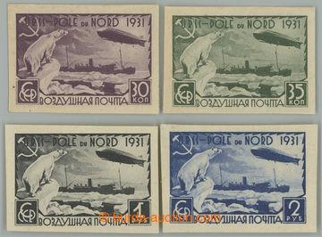 227589 - 1931 Mi.402B-405B, Polární let 30k - 2R; nezoubkovaná kom