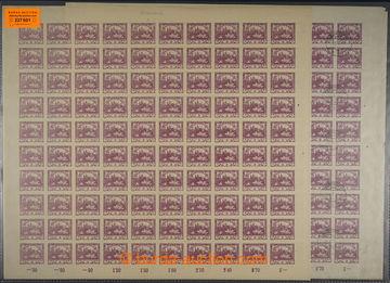 227601 -  ARCHOVINA / Pof.2, 3h fialová, 2x kompletní 100ks arch, T