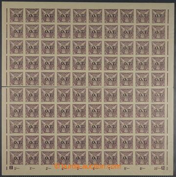 227609 - 1934 ARCHOVINA / Pof.OT1, 10h fialová, téměř vodorovně