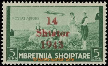 227641 - 1943 ALBANIEN / Mi.I, NEVYDANÁ přetisková 14 SHTATOR-1943