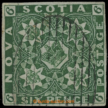 227652 - 1851 SG.6, Heraldické znaky 6C deep green; velmi pěkný ex