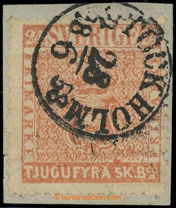 227668 - 1855 Mi.5b, Znak 24Sk matně červená mattrot (Facit č.5e