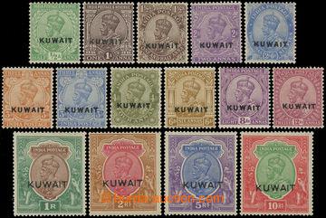 227679 - 1923 SG.1-15, indické známky Jiří V. 1/2A-10Rs s přetis