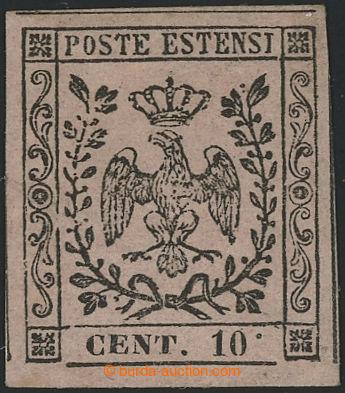 227681 - 1852 Sass.9g, Znak 10C růžová s chybotiskem VYSOKÁ TEČK
