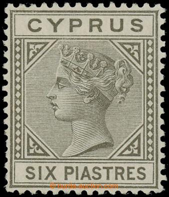 227692 - 1881 SG.15, Viktoria 6Pia olivově šedá; vzácná známka