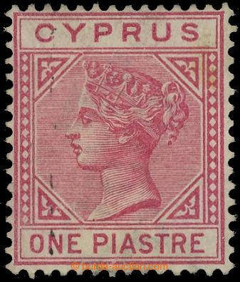 227694 - 1882 SG.18a, Viktoria 1Pia červená, průsvitka CA, TOP LEF